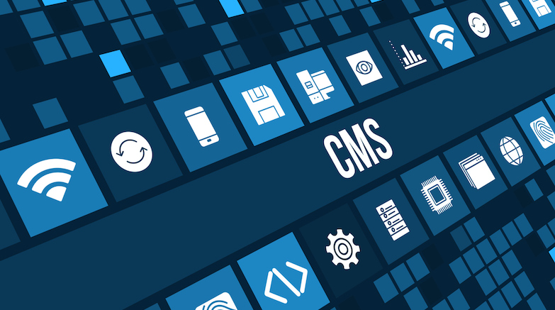 Icons of Technology with CMS in the Middle